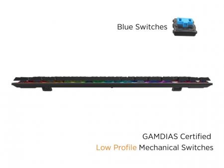 Tastatura mecanica Gamdias Hermes M3 iluminare RGB [1]