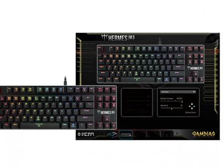 Tastatura mecanica Gamdias Hermes M3 iluminare RGB [5]