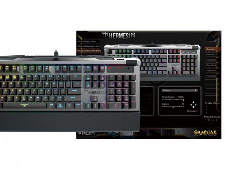 Tastatura mecanica Gamdias Hermes P2 iluminare RGB [3]
