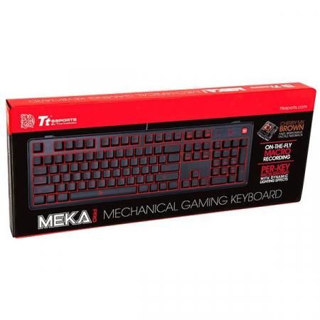 Tastatura mecanica Tt eSPORTS Meka Pro neagra, switch-uri maro [4]