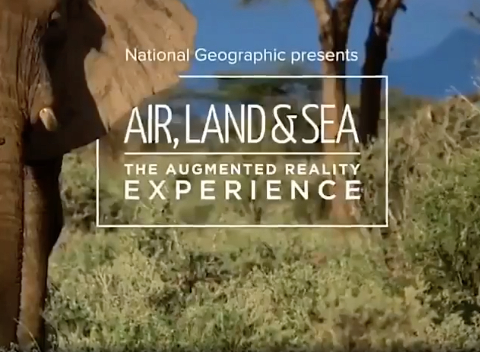 Augmented reality @National Geographic