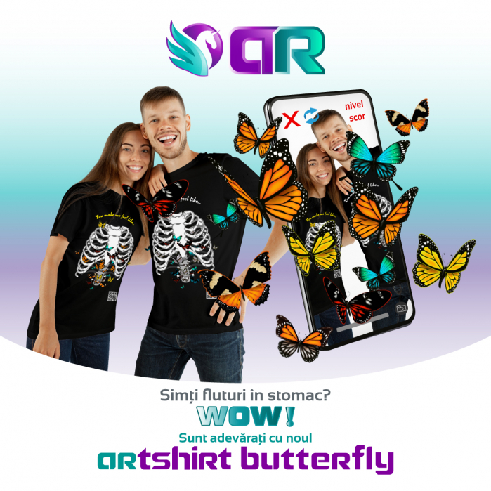 Tricou cu Realitate Augmentata Butterfly Feelings 4