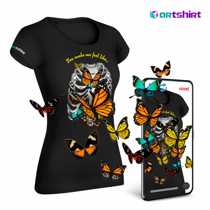 Tricou cu Realitate Augmentata Butterfly Feelings 0