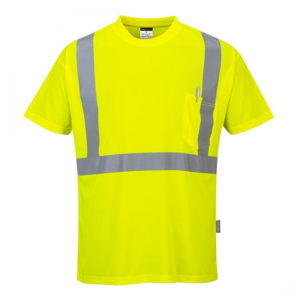 Tricou Hi-Vis Galben cu Buzunar 0