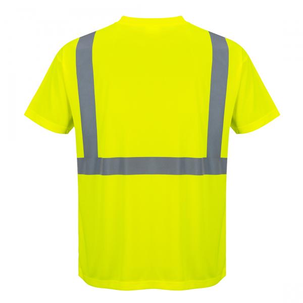 Tricou Hi-Vis Galben cu Buzunar 1