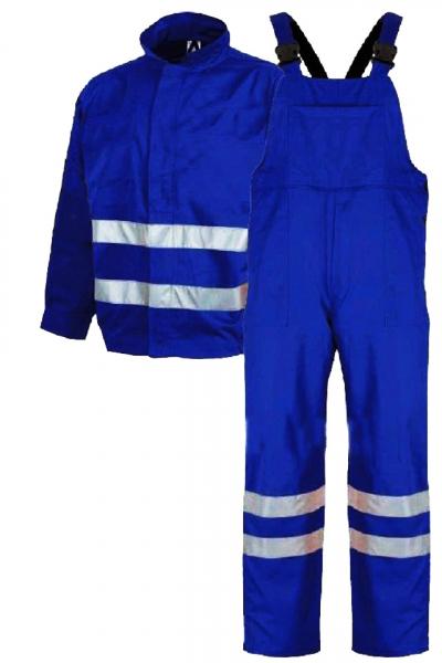 Costum salopetă cu benzi reflectorizante, Albastru 0