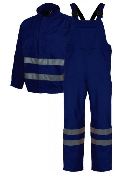 Costum salopetă cu benzi reflectorizante, Bleumarin 0