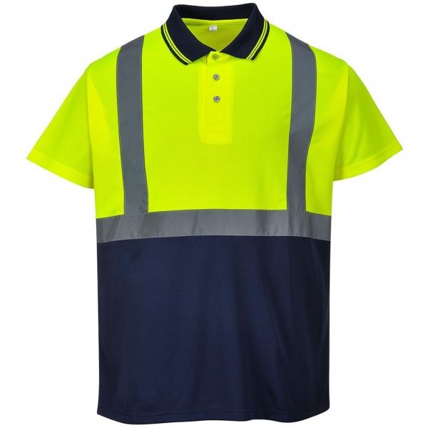 Tricou Polo Hi-Vis bicolor, galben [0]