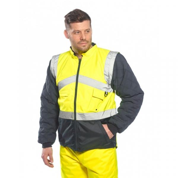 Jachetă HI-VIS în 2 tonuri reversibilă 0