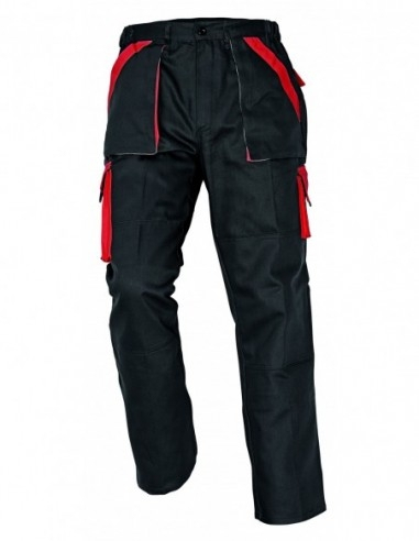 Pantaloni Max Negru-Roşu, 100% bumbac 0