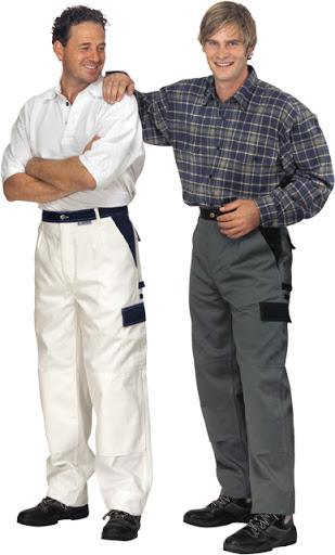 Pantaloni Planam zugravi, alb [0]