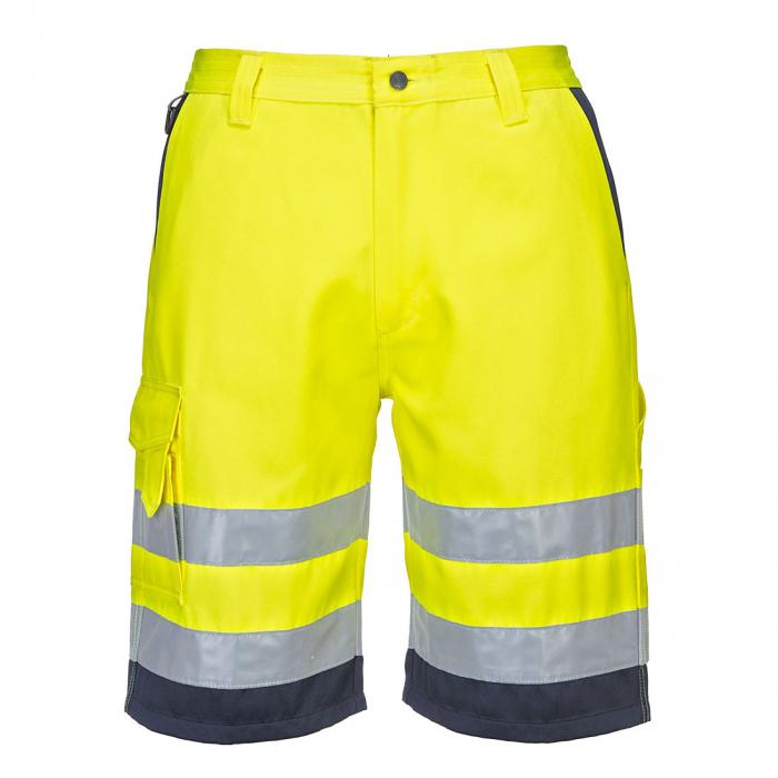 Pantaloni scurţi HI-VIS din poly-bumbac - Galben-neon [0]