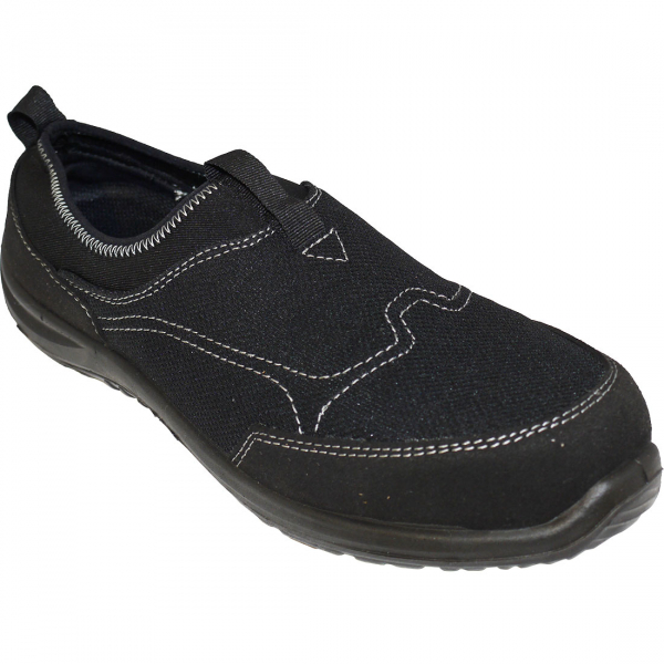 Steelite Tegid Slip On Trainer S1P, Negru 0