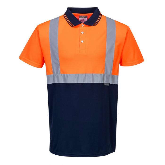 Tricou Polo Hi-Vis bicolor, portocaliu [0]