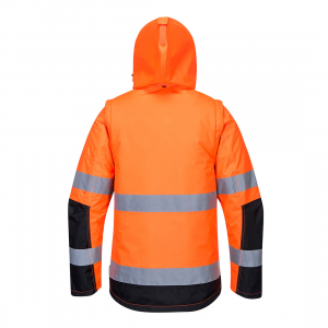 Jacheta HI VIS Premium 3-in-1  Orange/Negru1