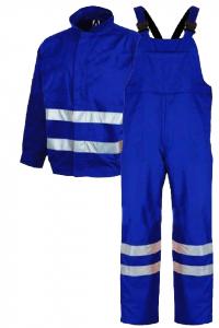 Costum salopetă cu benzi reflectorizante, Albastru [0]