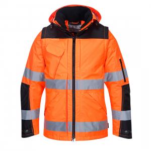 Jacheta HI VIS Premium 3-in-1  Orange/Negru3