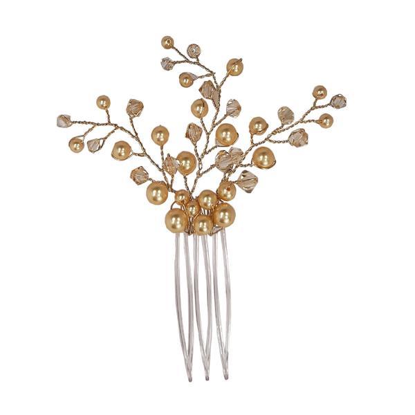 Accesoriu par mireasa cristale Swarovski Branch Golden Shadow 1
