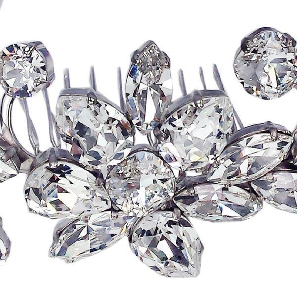Accesoriu par mireasa cristale Swarovski 8171 Crystal 4