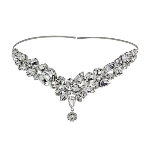 Accesoriu par mireasa cristale Swarovski Yasmine Crystal 0