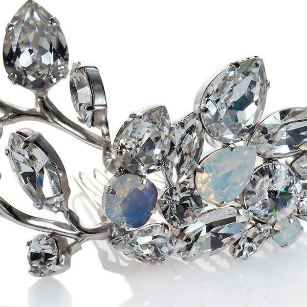 Accesoriu par mireasa cristale Swarovski Yvonne Crystal 1