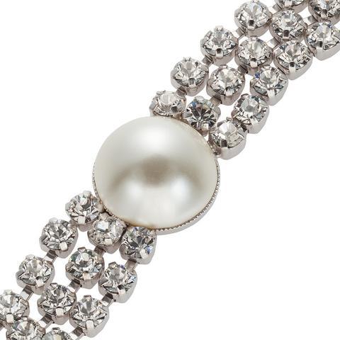 Bratara cristale Swarovski 2326 Crystal & Pearl 1