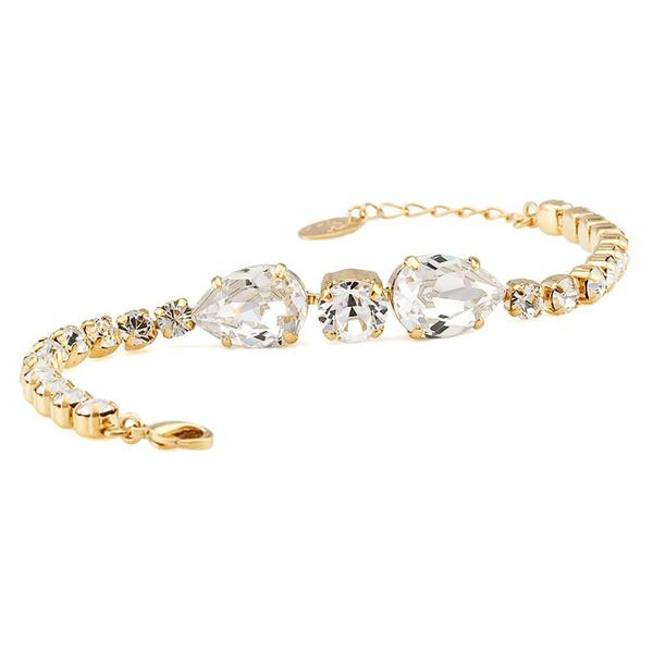 Bratara cristale Swarovski Lea Gold 0