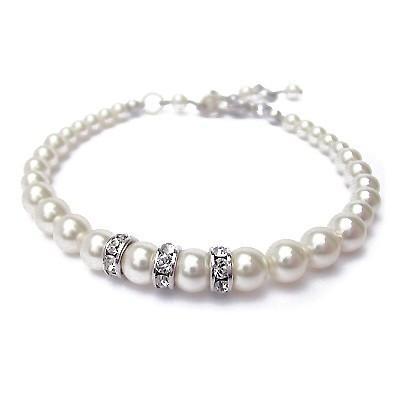 Bratara perle Swarovski 2204 White Pearl 0