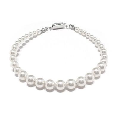 Bratara perle Swarovski 2205 White Pearl 0