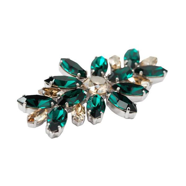 Brosa cristale Swarovski 5042 Emerald [0]