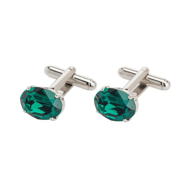 Butoni cristale Swarovski Oval Emerald 0