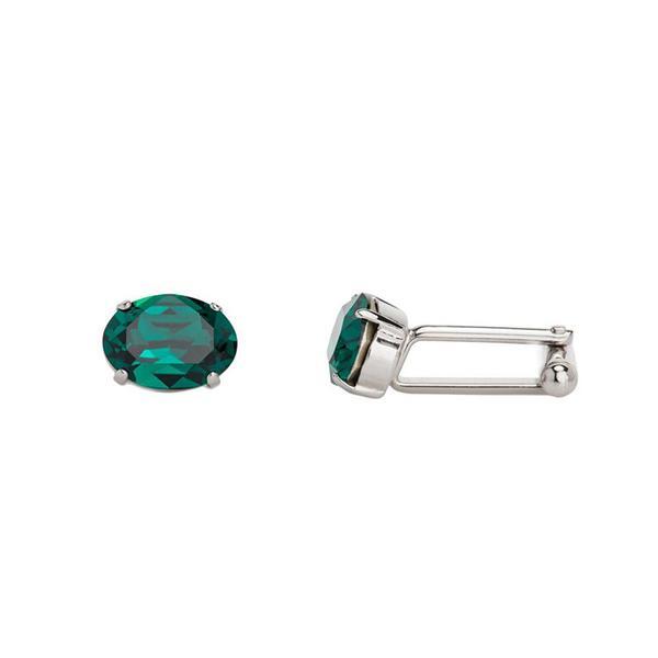 Butoni cristale Swarovski Oval Emerald 1