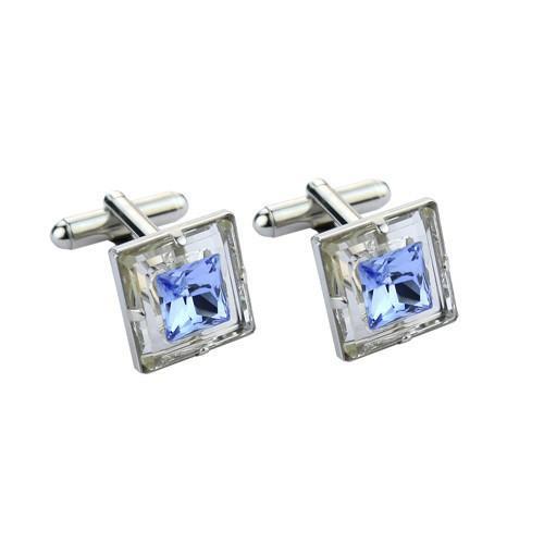 Butoni cristale Swarovski Sky Blue 0