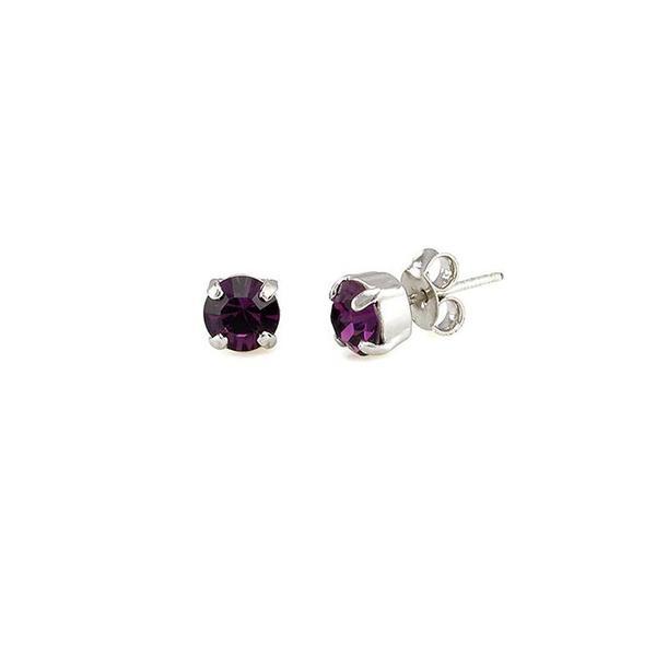 Cercei cristale Swarovski 3014 Amethyst 0