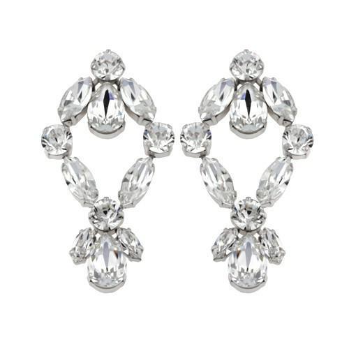 Cercei cristale Swarovski 3035 Crystal 0