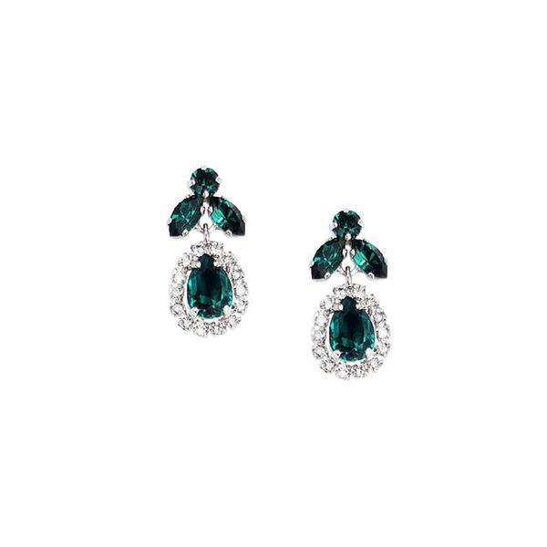 Cercei cristale Swarovski Ainara Emerald 0