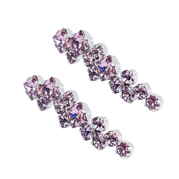 Cercei cristale Swarovski Annie Light Amethyst 2