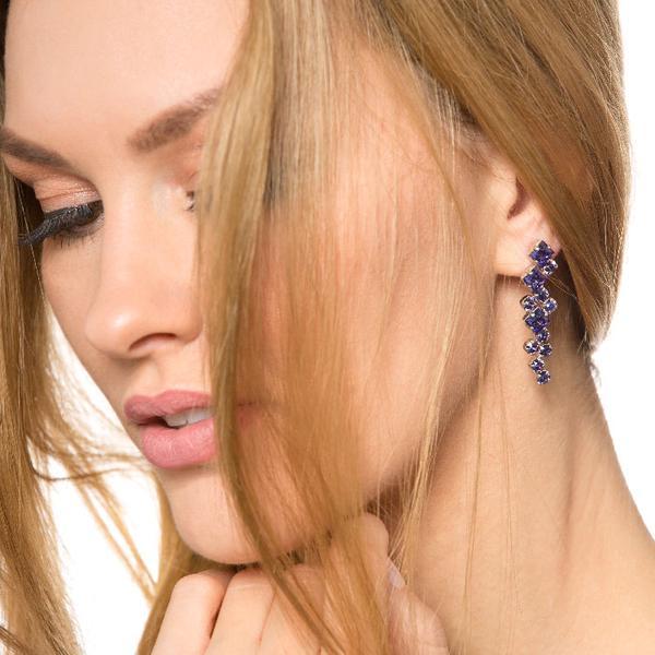 Cercei cristale Swarovski Annie Violet 1