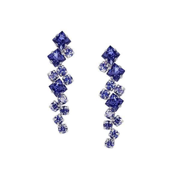 Cercei cristale Swarovski Annie Violet 0