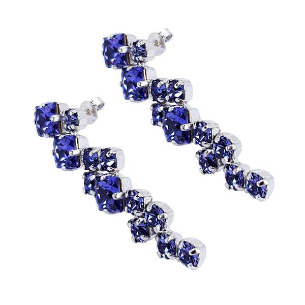 Cercei cristale Swarovski Annie Violet 3
