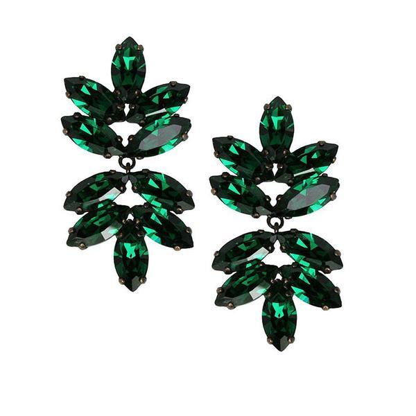 Cercei cristale Swarovski Beatrice Emerald 0