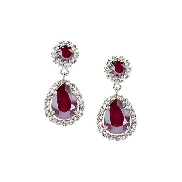 Cercei cristale Swarovski Emily Royal Red 0