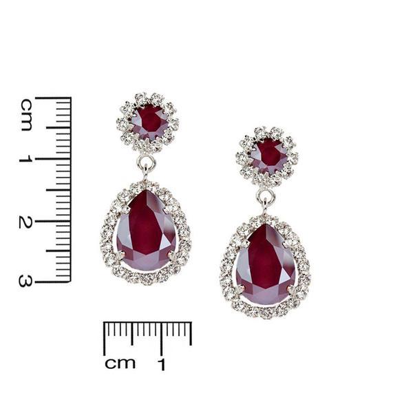 Cercei cristale Swarovski Emily Royal Red 2