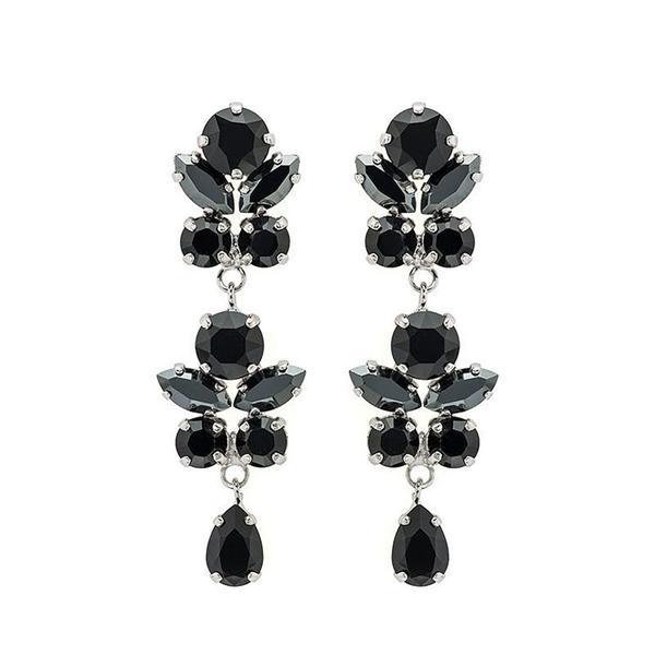 Cercei cristale Swarovski Marielle Long Black [0]