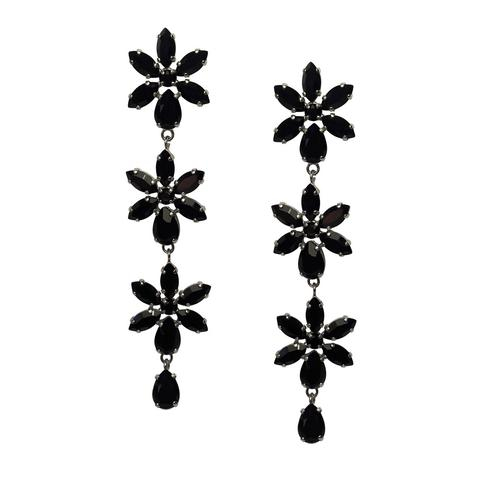 Cercei cristale Swarovski Purity Black 0