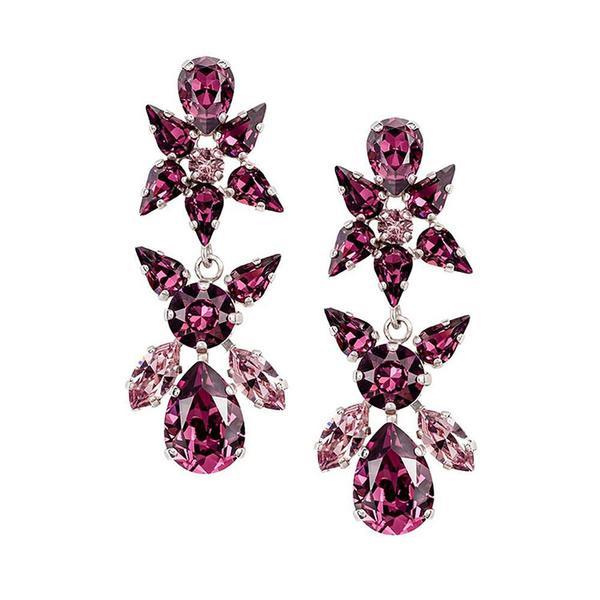 Cercei cristale Swarovski Sparkly L Amethyst 0