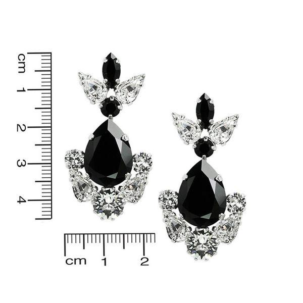 Cercei cristale Swarovski Xena Alb & Negru [3]