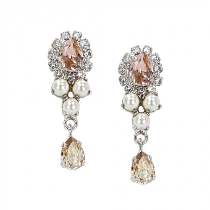 Cercei perle Swarovski Flower Pearl Vintage 0