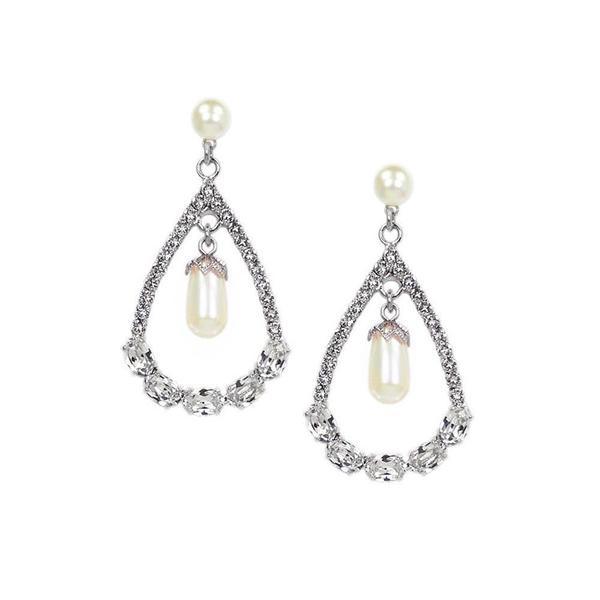 Cercei perle Swarovski Infinity Pearl [0]