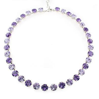 Colier cristale Swarovski 1006 Violet &Tanzanite 0